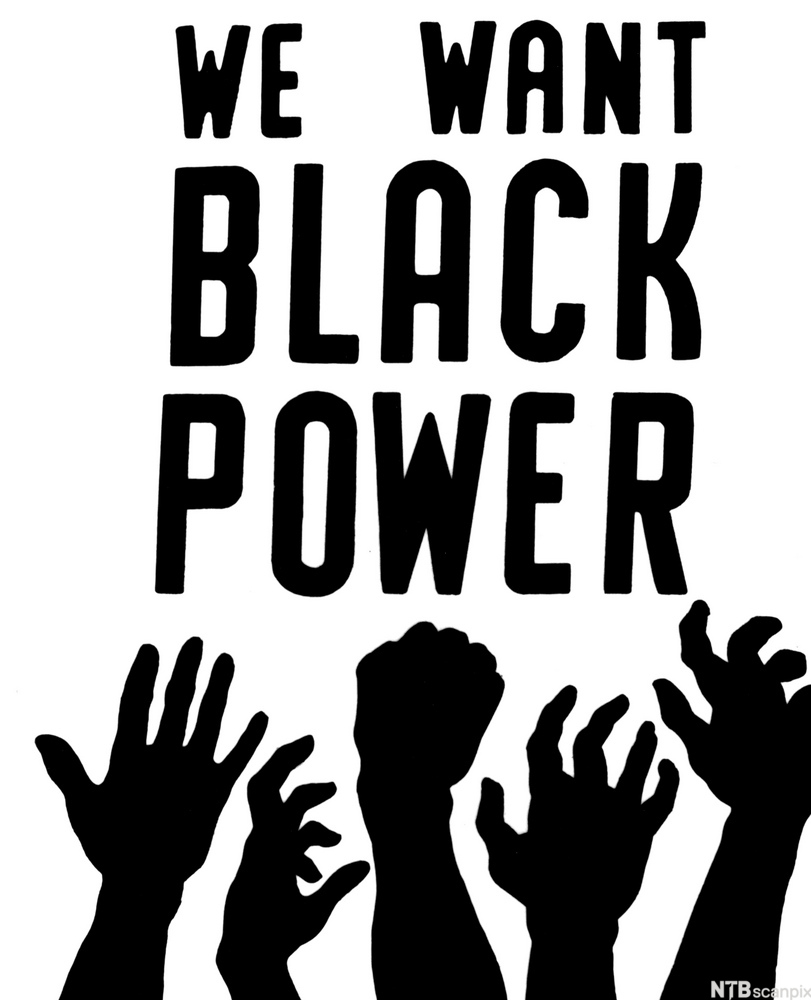 Black Power movement flyer distributed