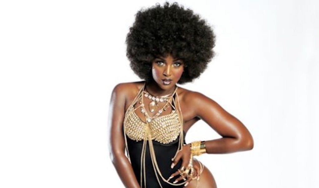 Amara La Negra Looking Black-tina Fabulous in Black & Gold