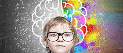 Boy glassescolourful brain
